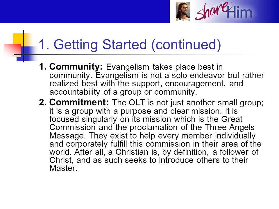 1.Getting Started (continued) 3.