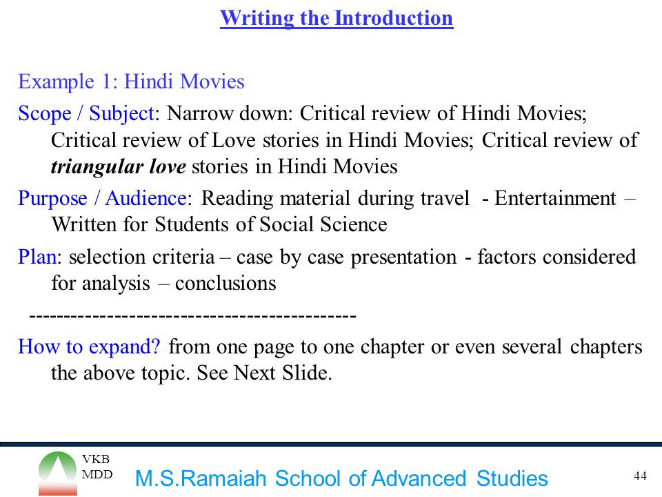 Writing Dissertation Introduction