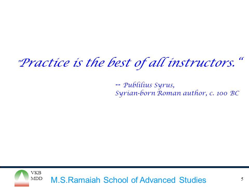 M.S.Ramaiah School of Advanced Studies VKB MDD 5