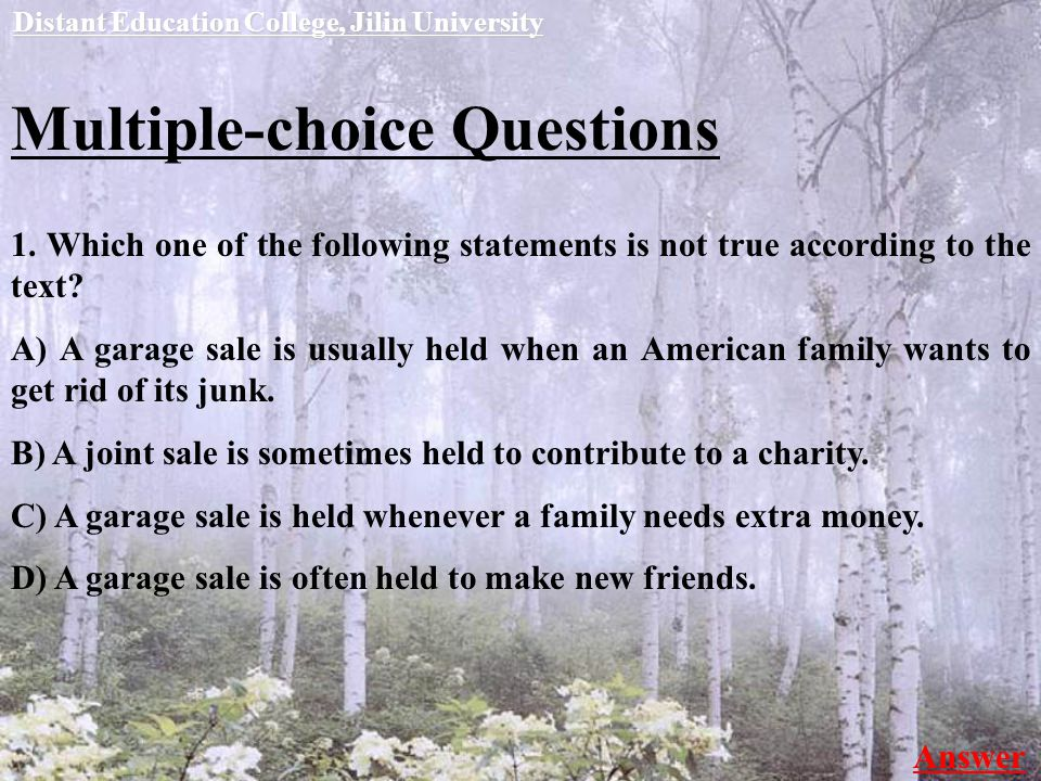 Multiple-choice Questions 1.