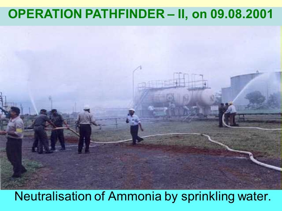 Observation of gas leakage & attempt to control by company OPERATION PATHFINDER – II, on 09.08.2001