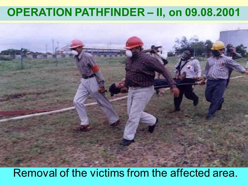 Neutralisation of Ammonia by sprinkling water. OPERATION PATHFINDER – II, on 09.08.2001