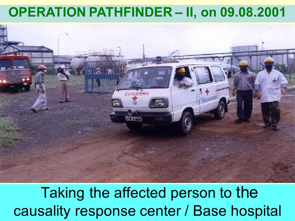 Removal of the victims from the affected area. OPERATION PATHFINDER – II, on 09.08.2001