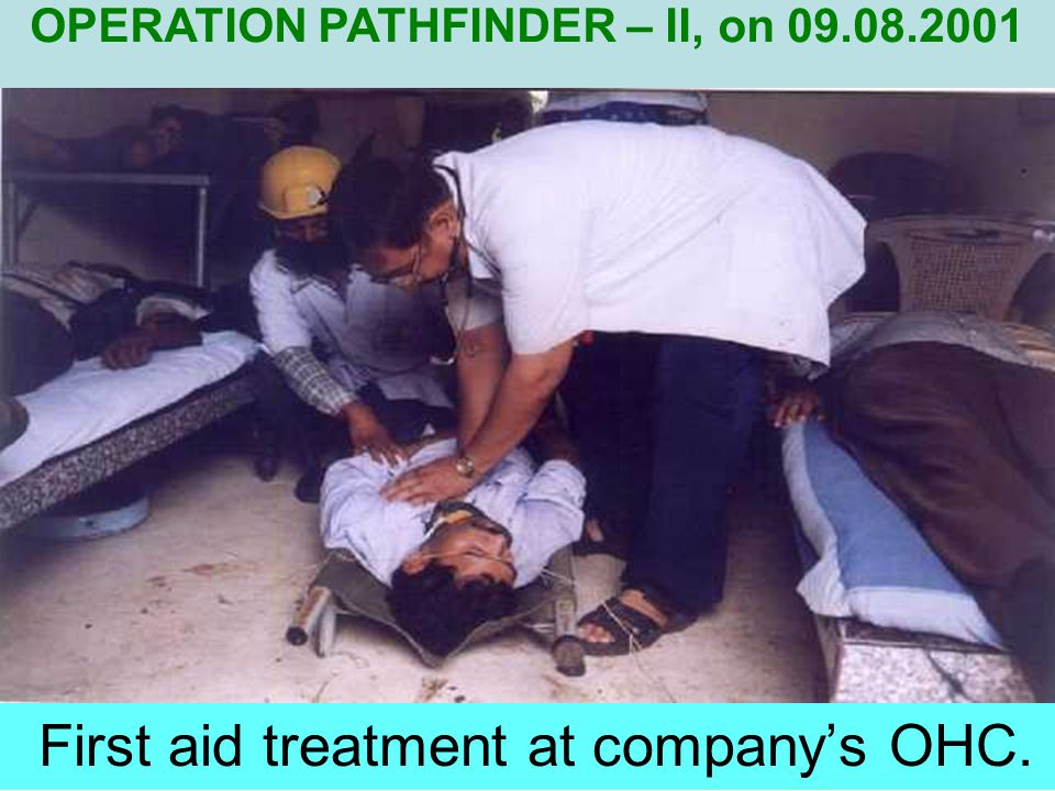 Involvement of out side agency for neutralisation of leaked gas with spraying of water. OPERATION PATHFINDER – II, on 09.08.2001