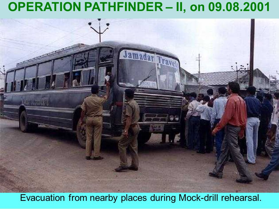 IC conveying about the situation at the site. OPERATION PATHFINDER - II, on 09.08.2001