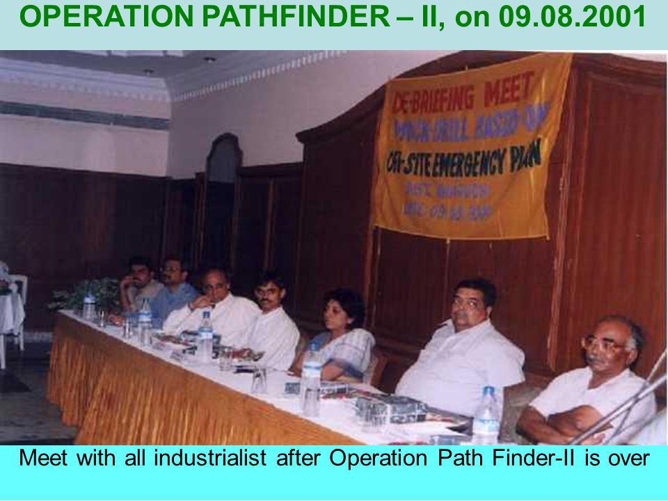 """Confirmations of """"ALL CLEAR"""" signal by Toxicity Committee OPERATION PATHFINDER - II, on 09.08.2001"""