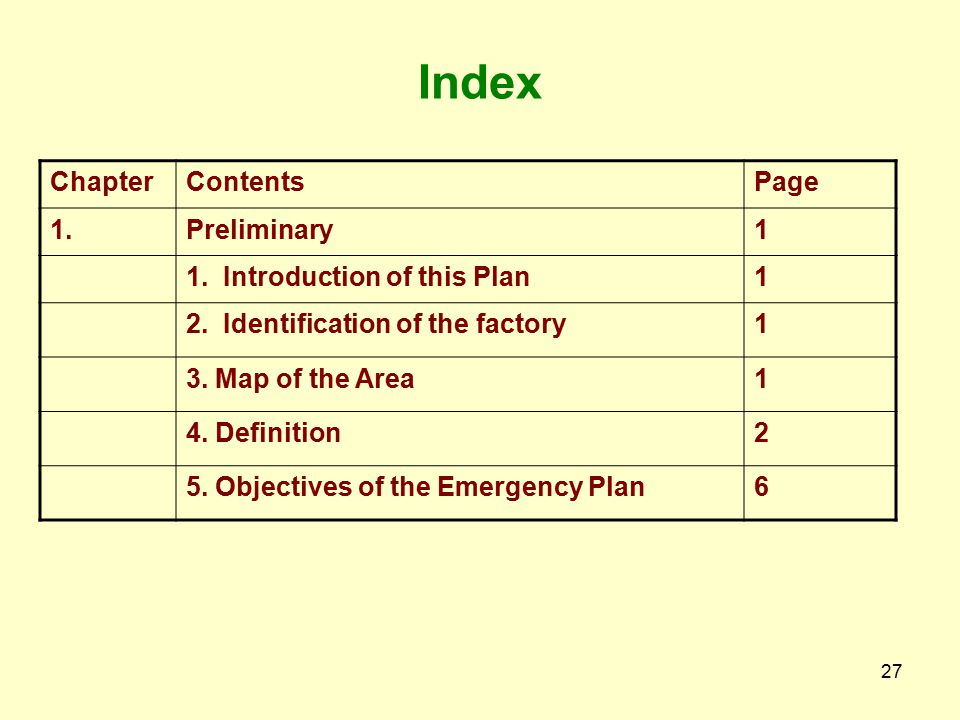 26 (1)Guideline on Preparation of On-site and Off-site Emergency Plan Contains Preliminary Risk Environmental Impact Assessment Emergency Organization