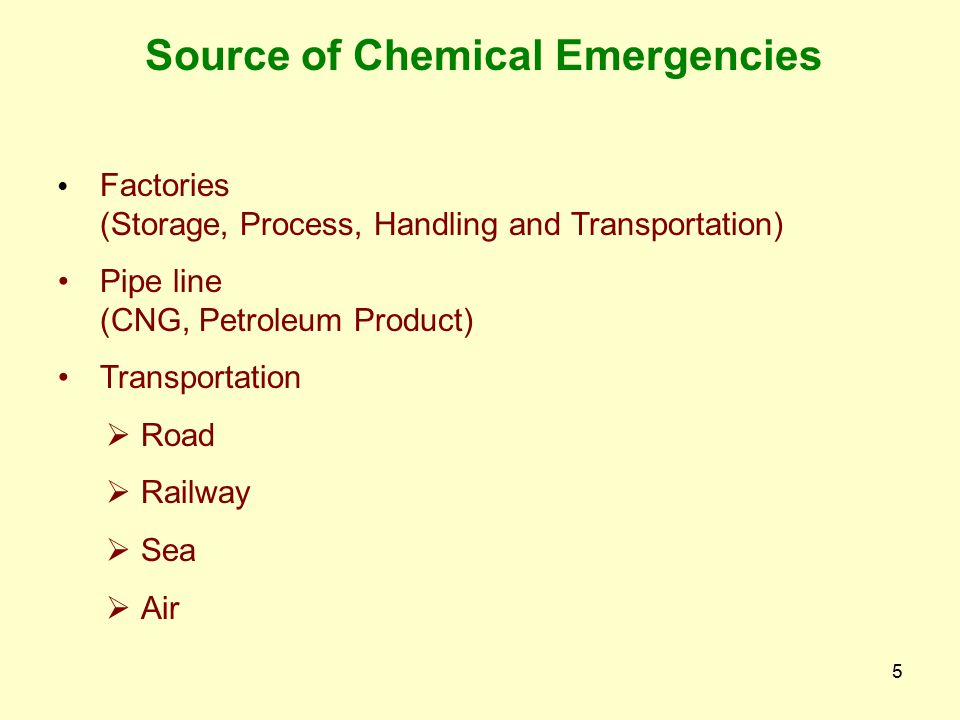 95 Accident prevention Departmental circulars – Flood, Security, Chemical Disaster, Storm, Earth Quake etc.