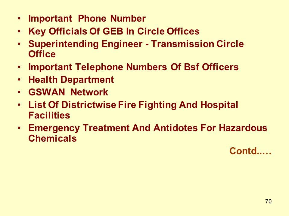 69 India Meteorological Department and Observatories IMD Regional Offices Central Flood Forecasting Organisation (CWC) & Narmada Bhaskaracharya Instit