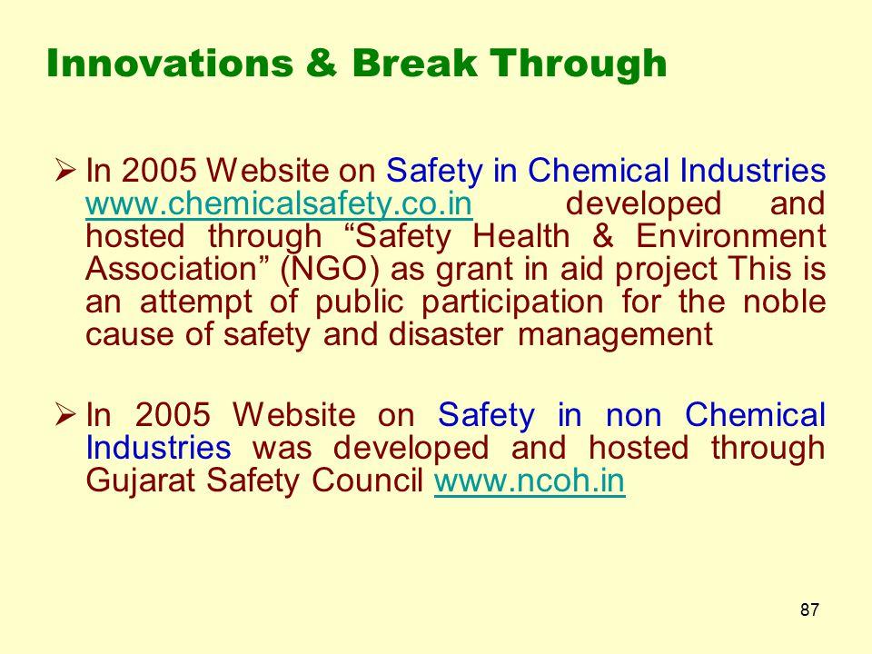 86 Innovations & Break Through