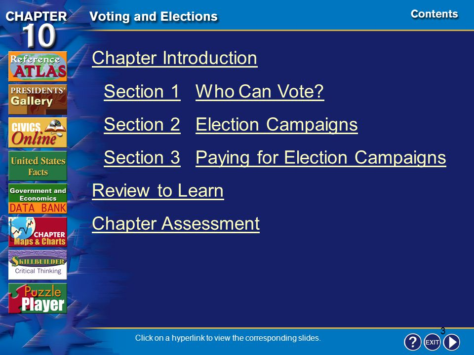 3 Contents Chapter Introduction Section 1Who Can Vote.