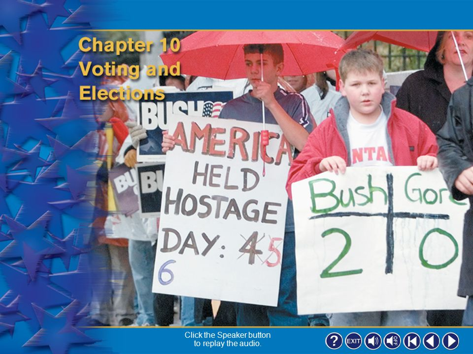 36 Section 2-2 Organizing Information As you read this section, complete a graphic organizer like the one on page 241 of your textbook by listing features of the three types of elections.