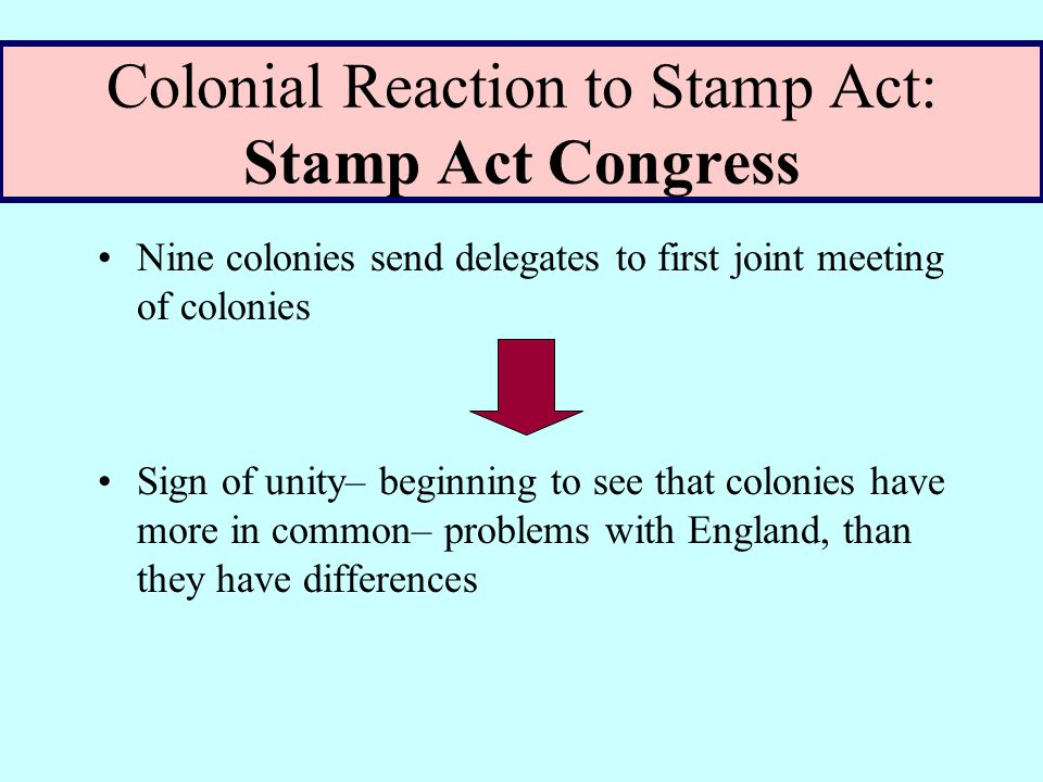 Colonial Reaction: Virginia Resolutions Patrick Henry writes the Virginia Resolutions stating it is illegal for Britain to tax its colonies & hints that George III is a tyrant to be overthrown.