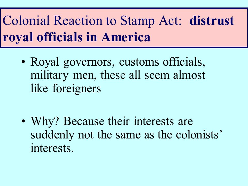 Colonial Reaction to Stamp Act: Boycott Movement Boycott movement involves women, who were excluded from voting and civil office Still, women are the ones running households– buying goods.