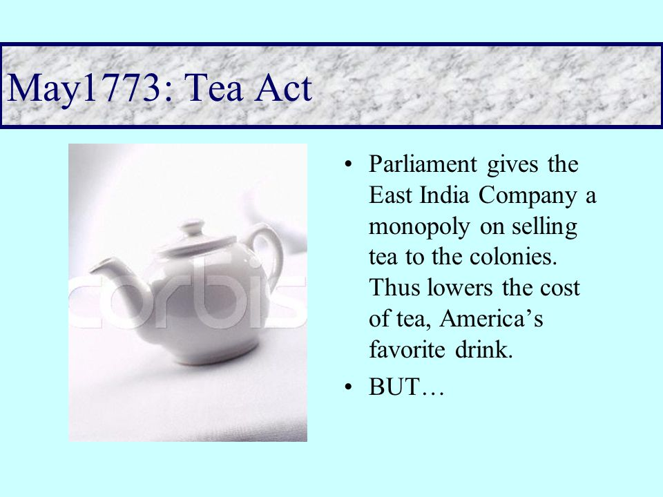 1772 Committee of Correspondence Colonies keep in contact with each other to communicate complaints about British government's treatment to each other This is a colonial government apparatus completely independent of the royal crown Power of the Pen– keeping people informed allows colonists to see a pattern of events beyond their own town or colony.