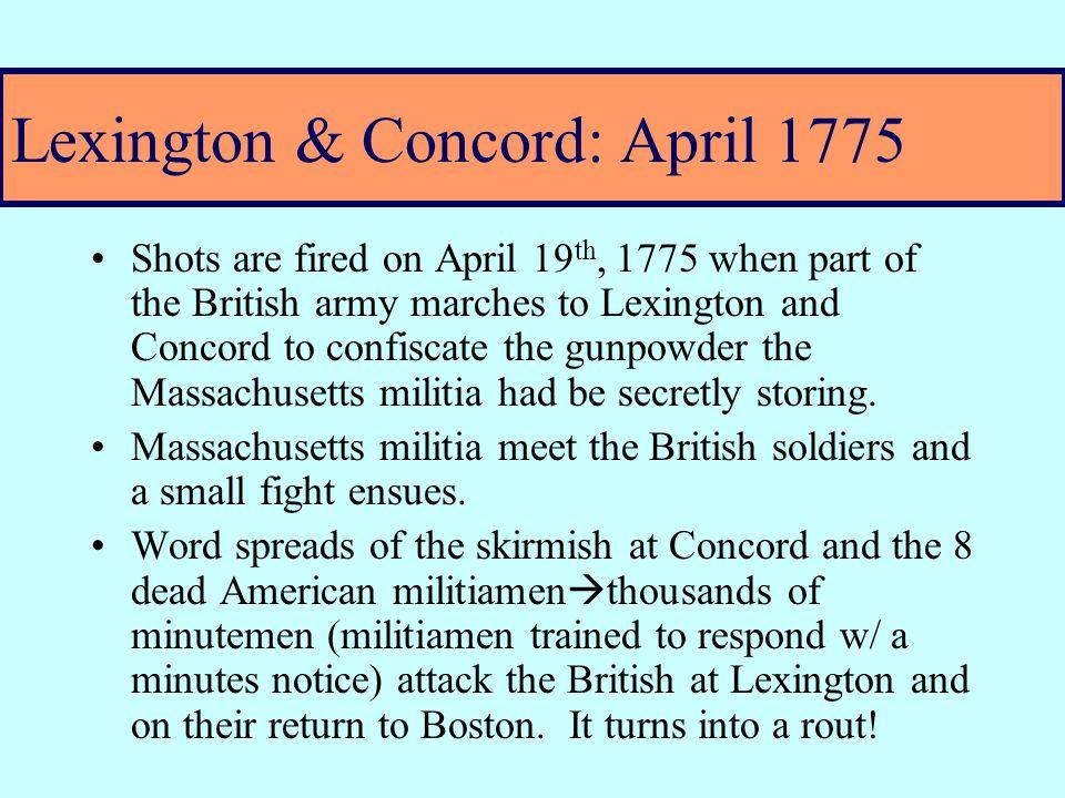 First Continental Congress – Sept.