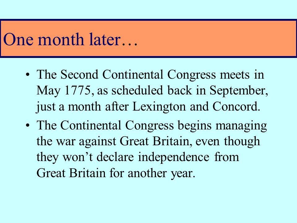 Concord & Lexington: First Shots of War – even though war hasn't been declared