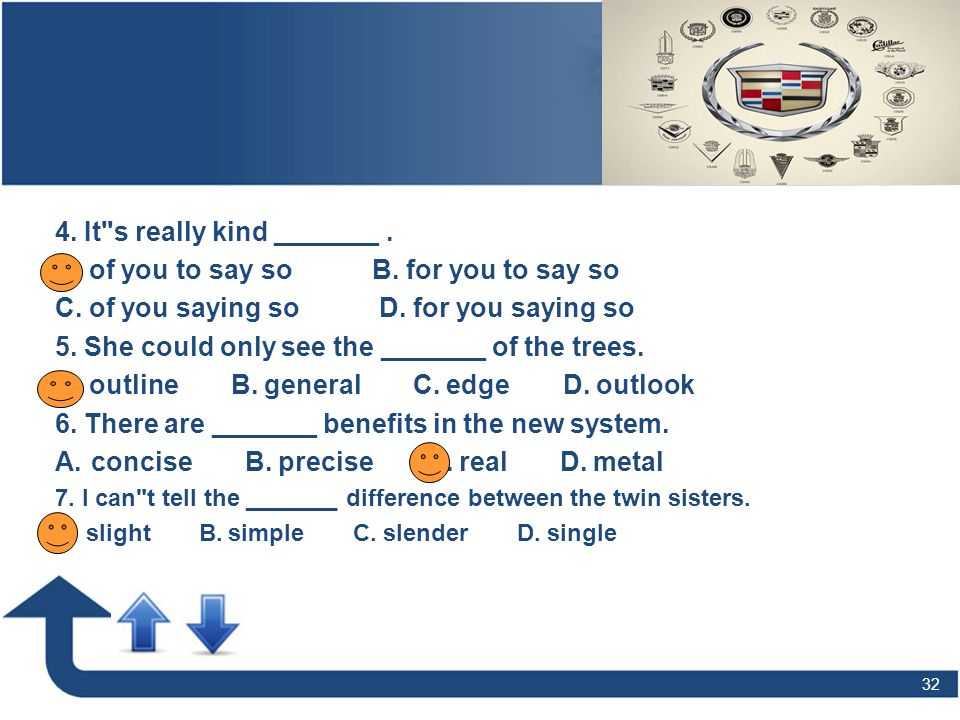 32 Grammar Verb Tenses (1) -- the Simple Past Tense 4. It