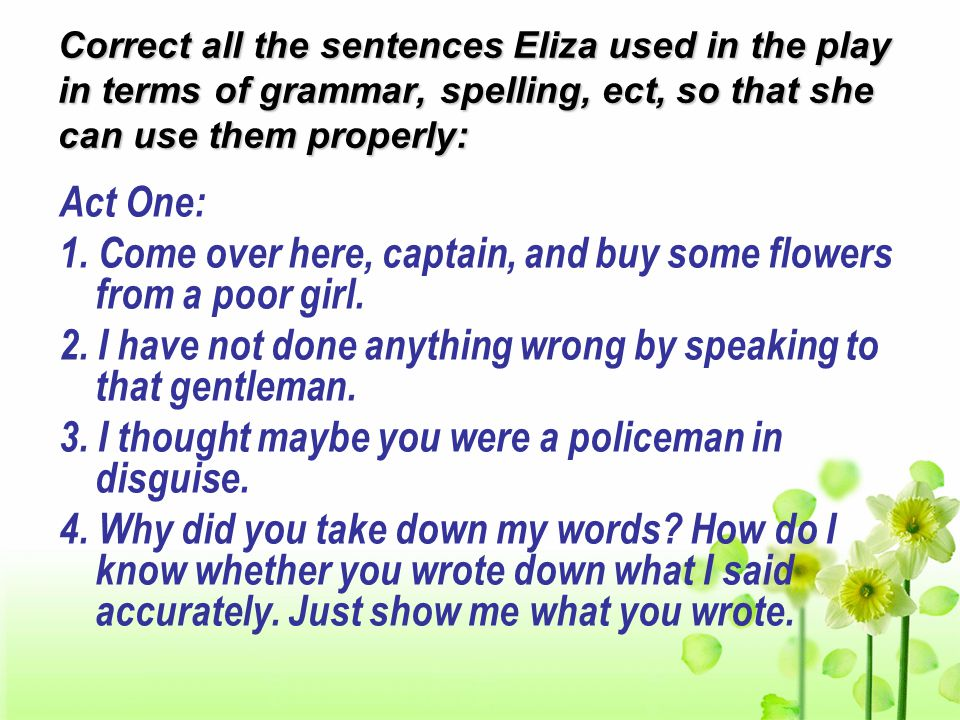 Pay attention to the following useful phrases & sentences: 10.