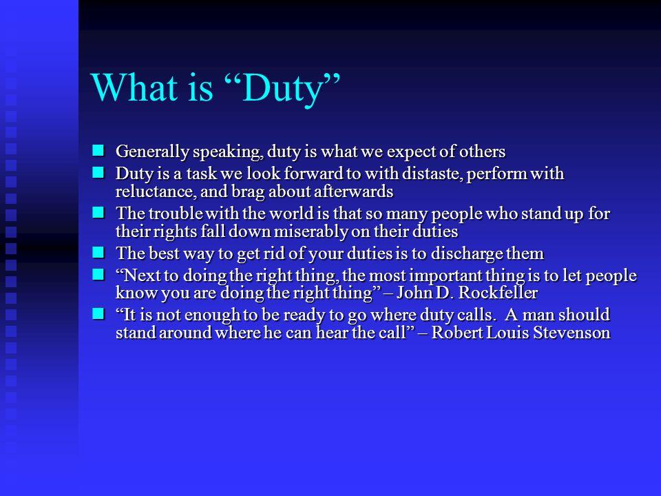 Key Issues Responsibility Responsibility Duty Duty Statutory Statutory
