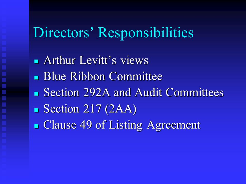 Fiduciary Duty of Directors Director should not enter into engagements in which he can have a personal interest conflicting with the interest of the c