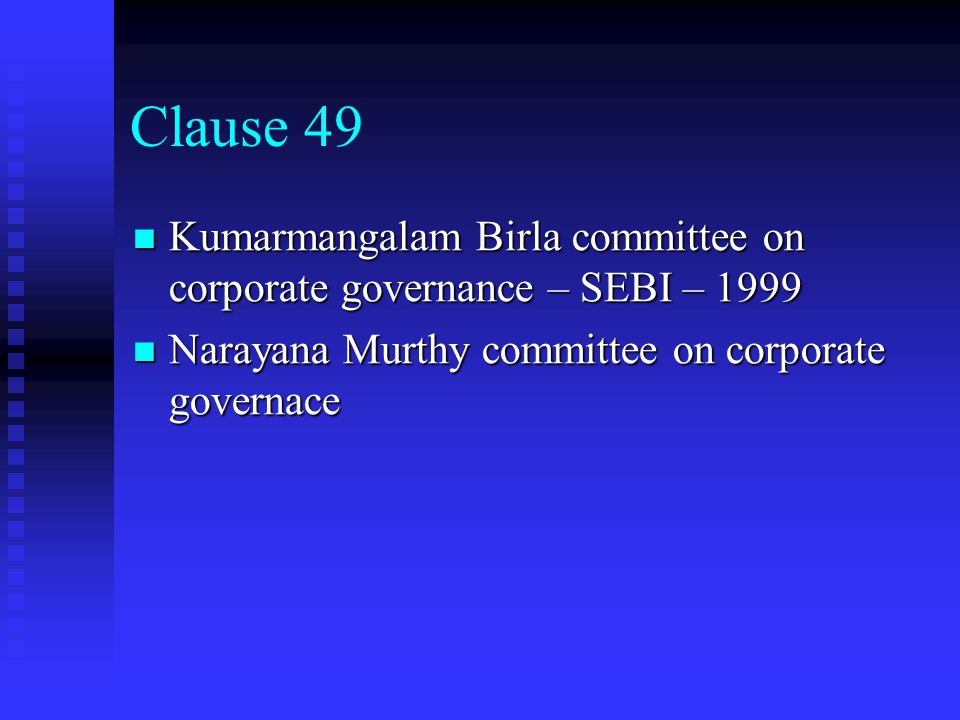 Clause 49 of Listing Agreement The non executive director on the board should not be less than fifty percent of the Board of Directors or in the case