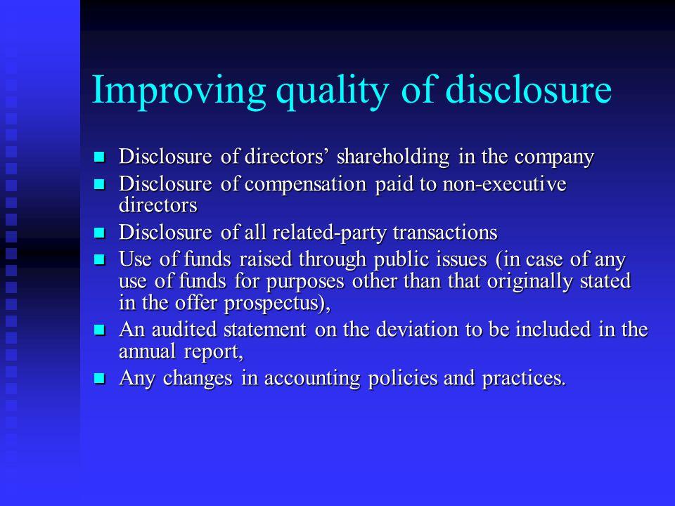 Increased responsibilities Enhances the responsibilities of the board Enhances the responsibilities of the board Company's compliance with all applica