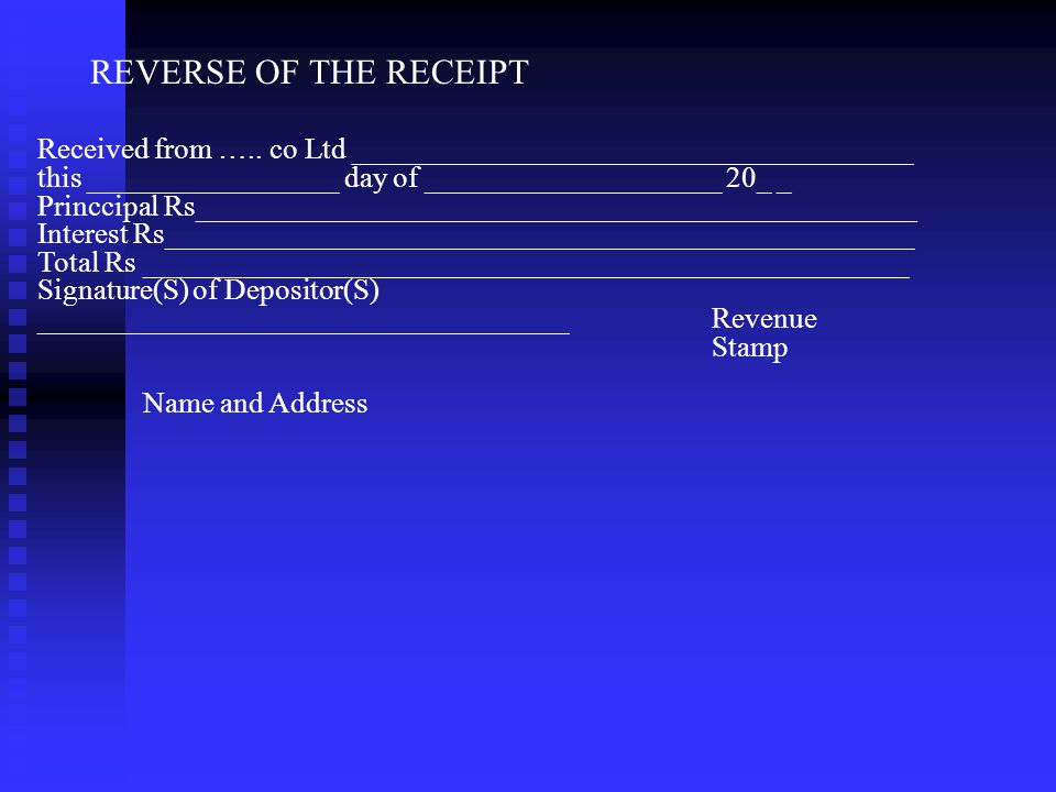 SPECIMEN DEPOSIT RECEIPT (NOT TRANSFERABLE) NAME OF THE COMPANY Regd Office: _____________________________ Fixed Deposit Receipt No________________ fo