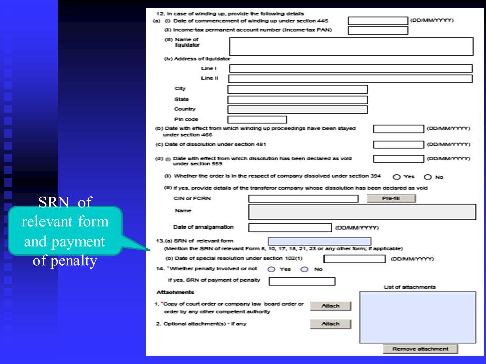 Details in case of Amalgamation order