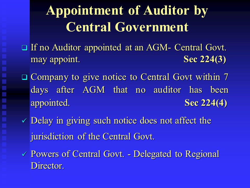  If one of the two joint Auditors resigns before the completion of the tenure - Casual Vacancy  If there is a complete change in the constitution of