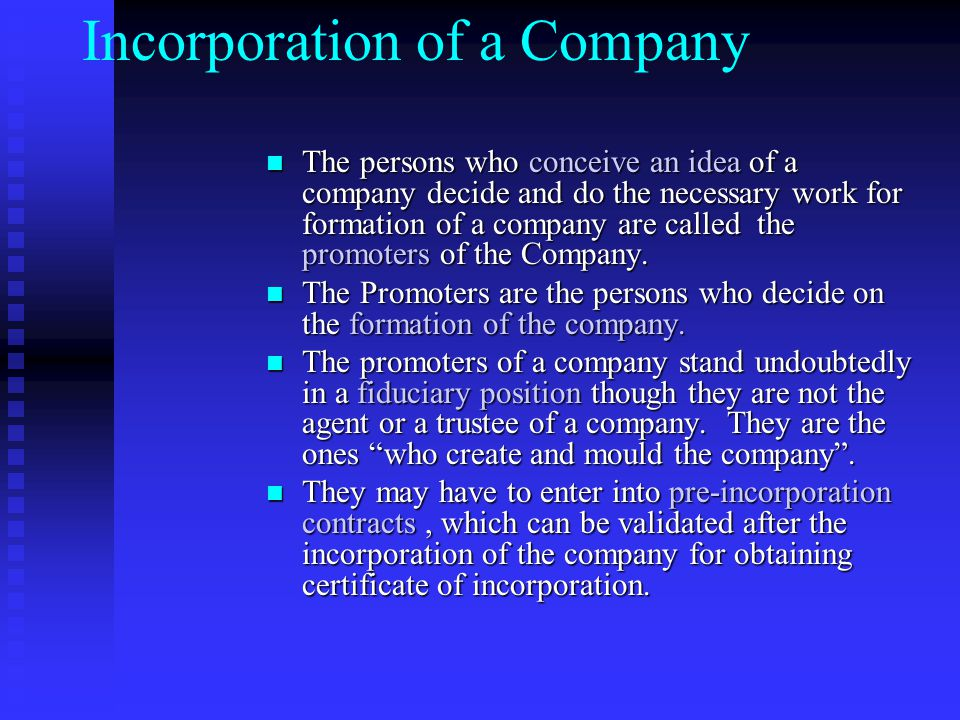 Registration and Incorporation Association of persons or partnership or more than 20 members ( 10 in case of banking) can register to form a company u