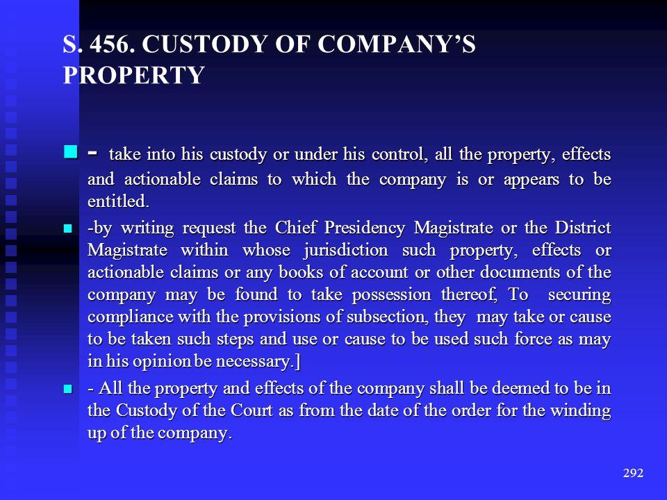 CERTAIN PROVISISONS – OFFICIAL LIQUIDATOR Appointment of Official Liquidator – Sec.448 Appointment of Official Liquidator – Sec.448 Official Liquidato