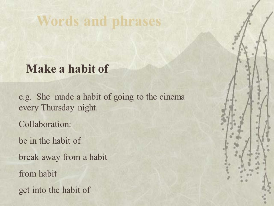 Follow up Words and phrases 在此之后干 … e.g.