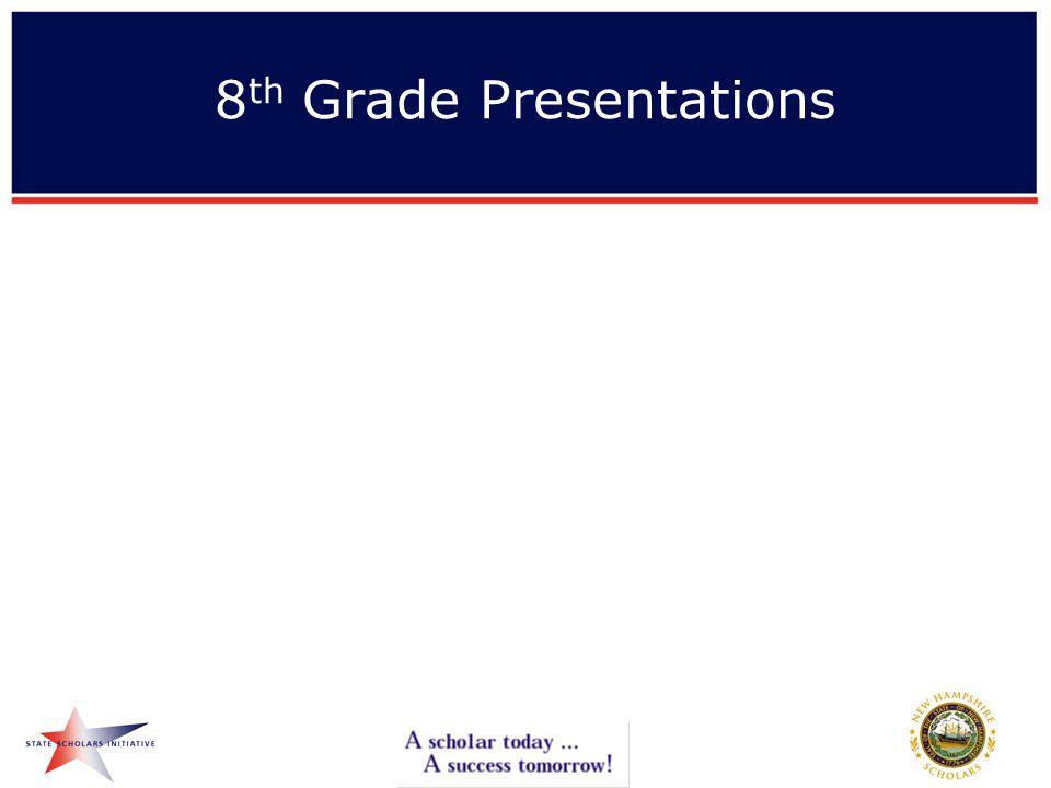 8 th Grade Presentations