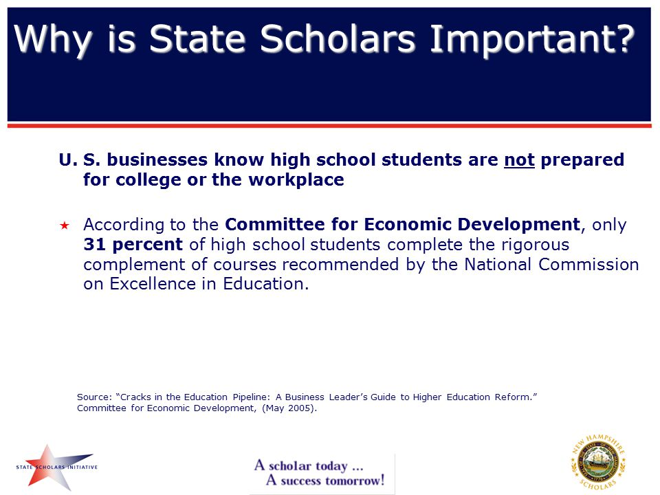 Why is State Scholars Important. U. S.