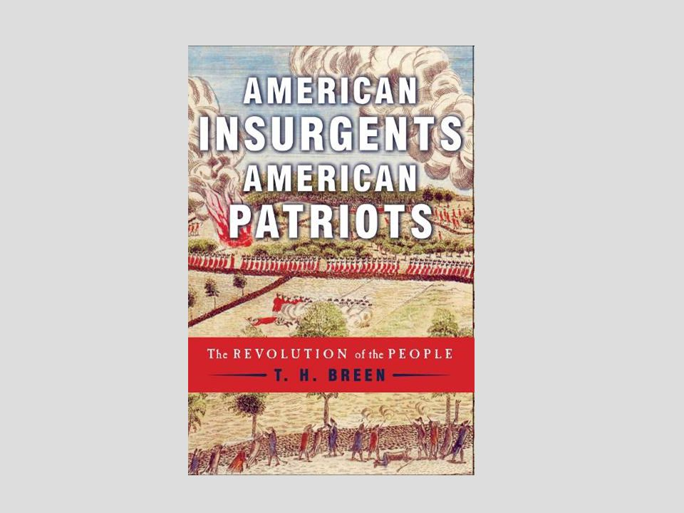 TO BEGIN OUR DISCUSSION How do you teach the American Revolution.