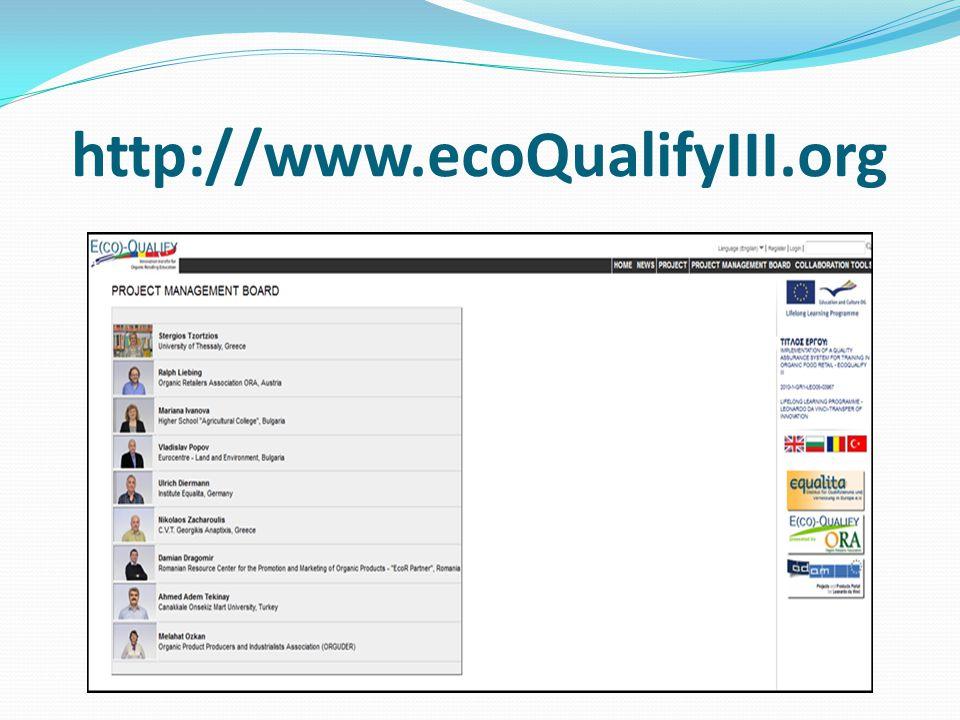 http://www.ecoQualifyIII.org