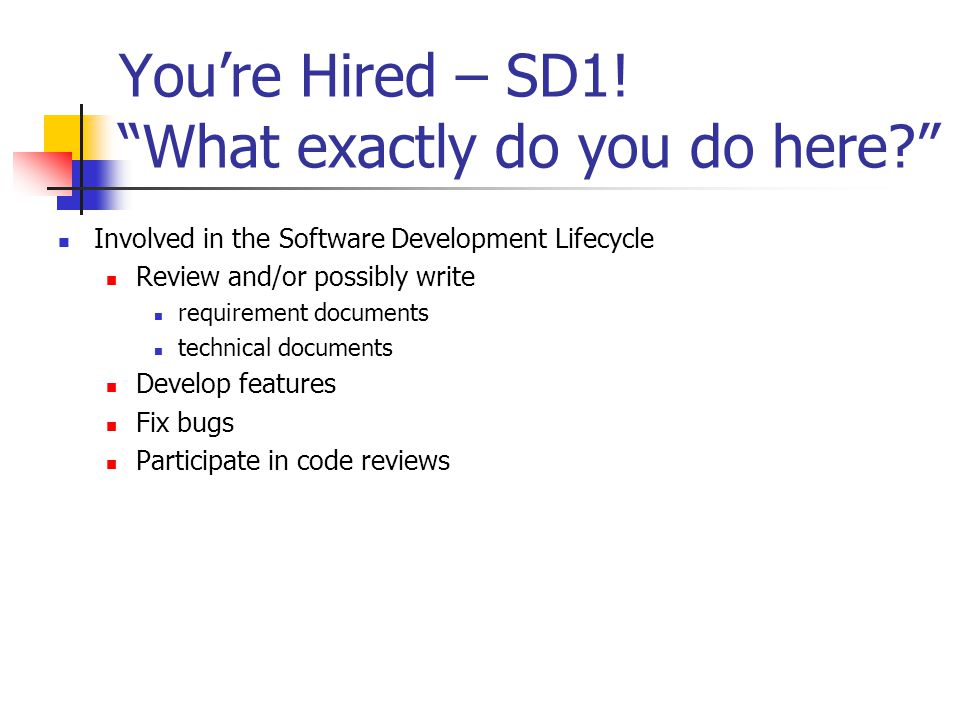 You're Hired – SD1.
