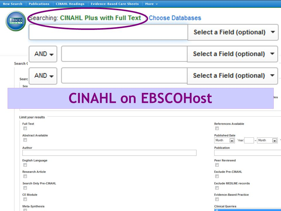CINAHL on EBSCOHost