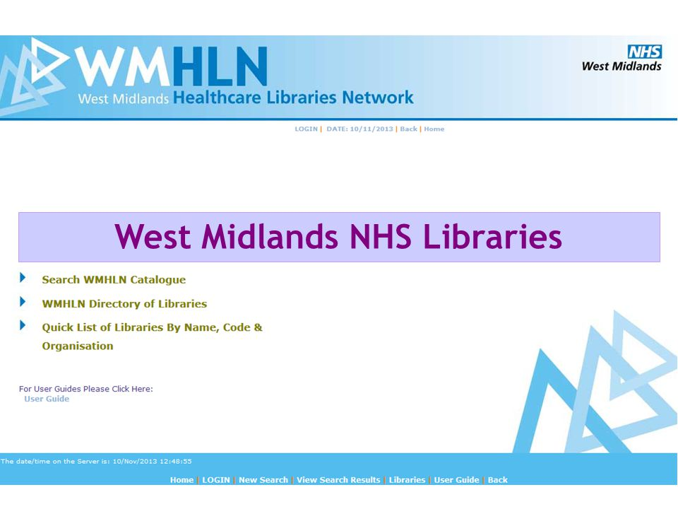 West Midlands NHS Libraries
