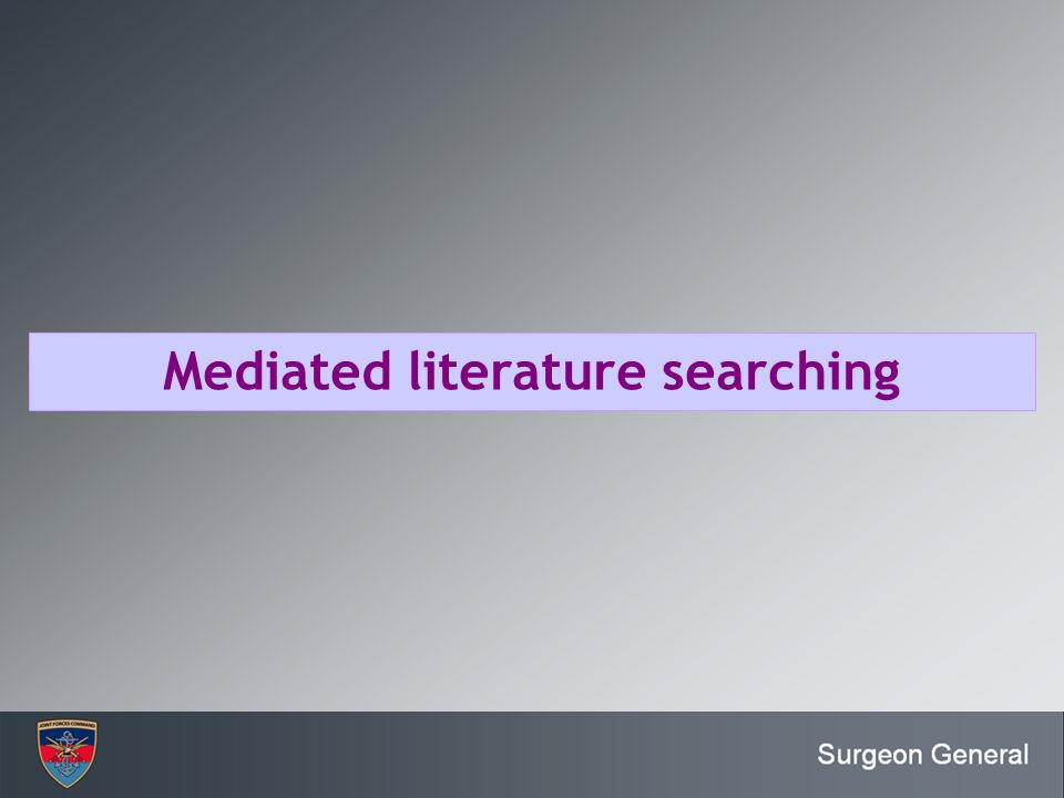 Mediated literature searching
