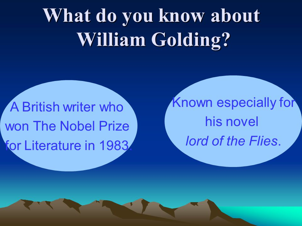 What do you know about William Golding.