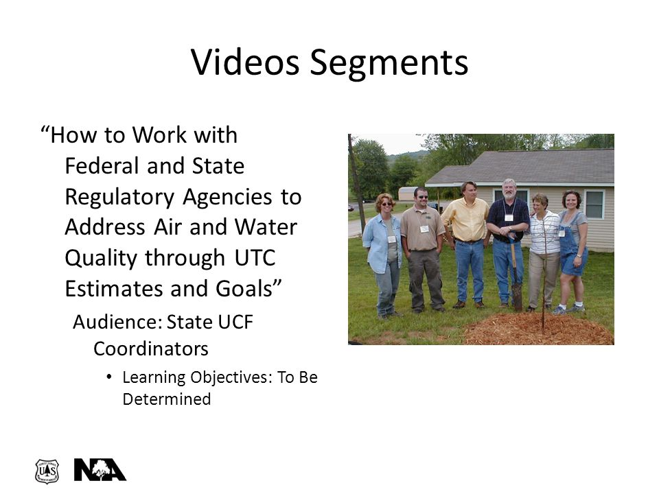 """Videos Segments """"How to Work with Federal and State Regulatory Agencies to Address Air and Water Quality through UTC Estimates and Goals"""" Audience: St"""