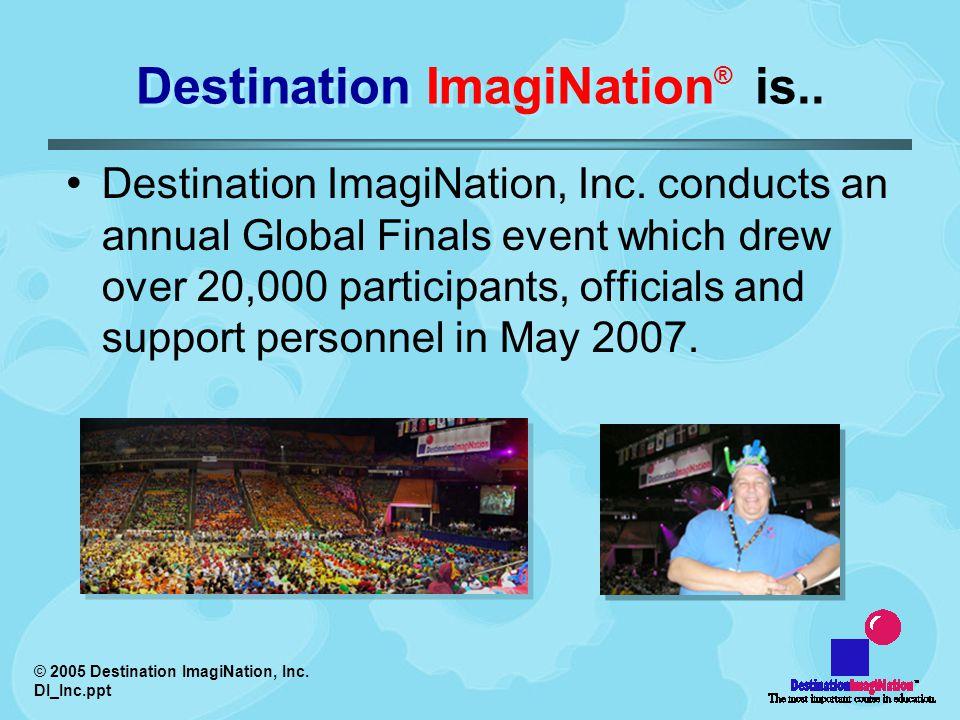© 2005 Destination ImagiNation, Inc. DI_Inc.ppt Destination ImagiNation ® is..