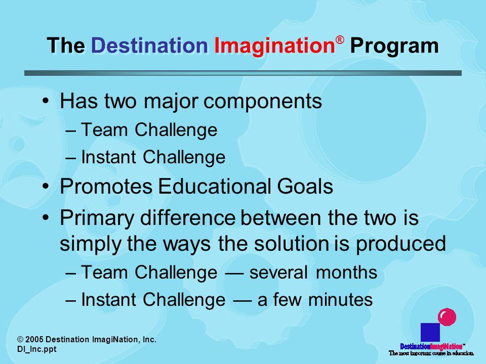 © 2005 Destination ImagiNation, Inc.