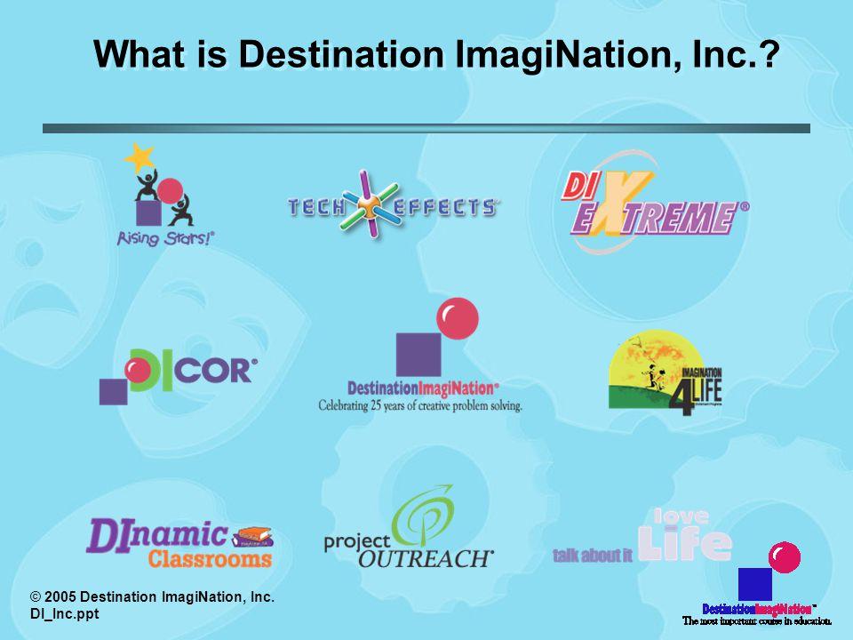 © 2005 Destination ImagiNation, Inc. DI_Inc.ppt What is Destination ImagiNation, Inc.?