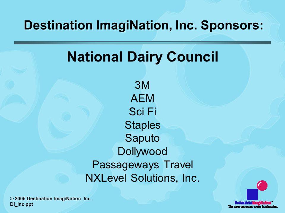 © 2005 Destination ImagiNation, Inc. DI_Inc.ppt Video