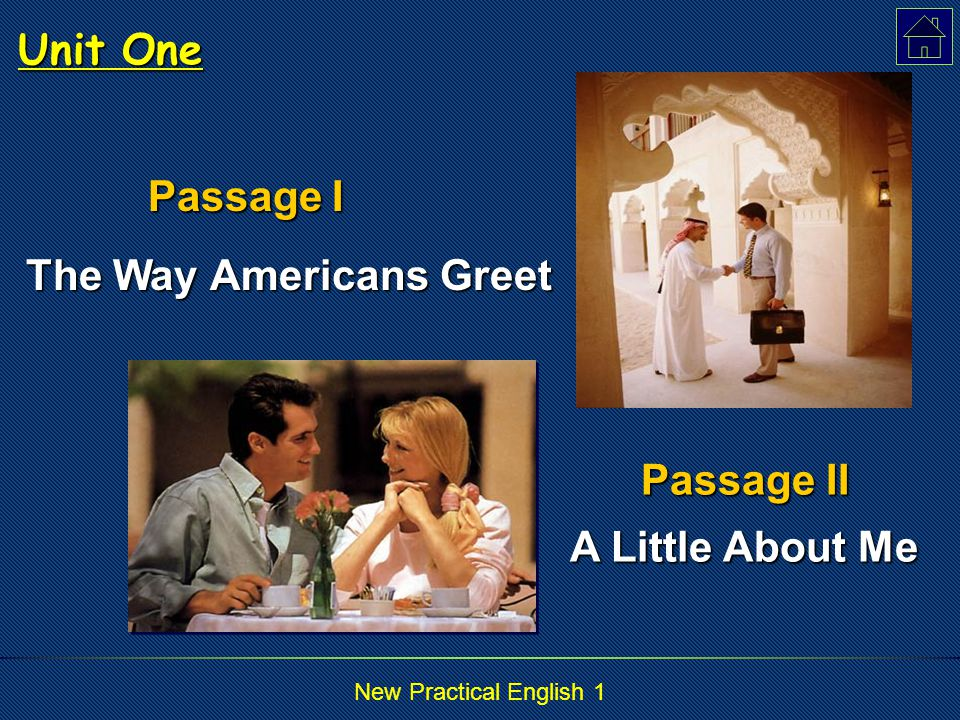New Practical English 1 Read and Translate 2 对学生来说,文化背景的介绍是这本书最精彩的部分。 To the students, the introduction to the cultural background is the best part of the book.