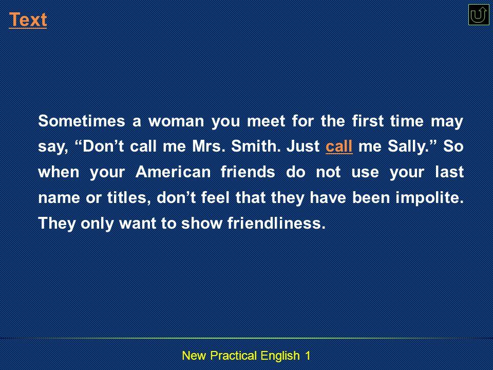 New Practical English 1 Para.