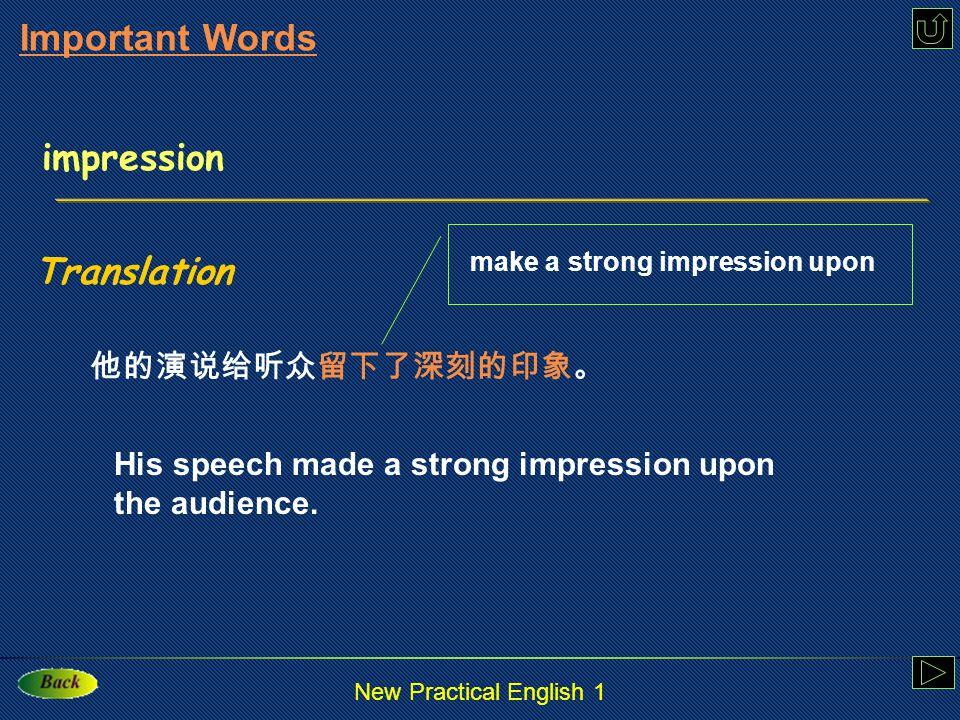 New Practical English 1 impression : n.